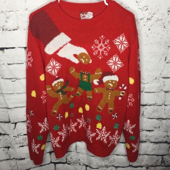 party sweater Other - Funny Ugly Party Christmas Sweater Gingerbread Men